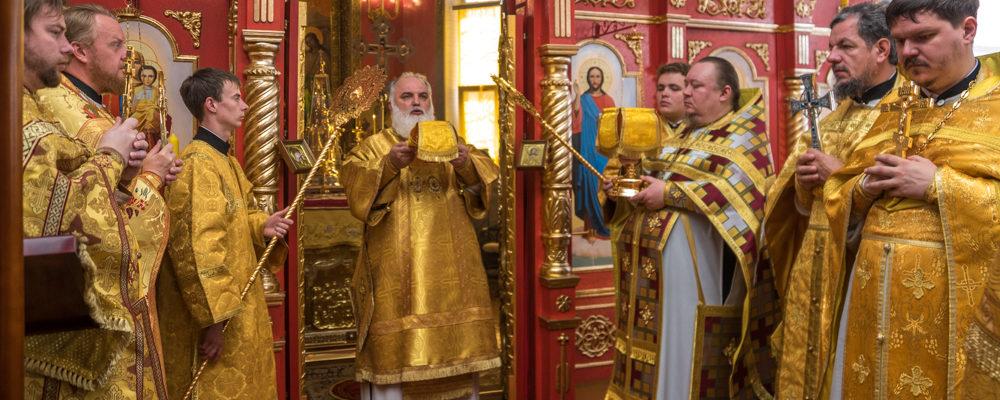 Архиерейская Литургия в Свято-Михайловском храме