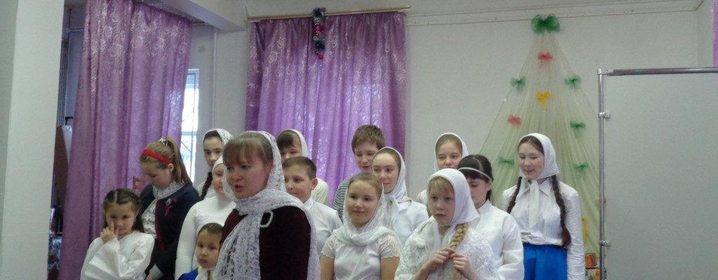 Выступление детской воскресной школы в музее